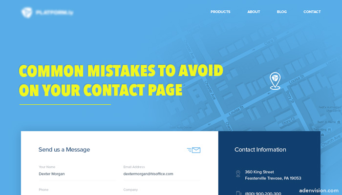 common mistakes to avoid on your contact page